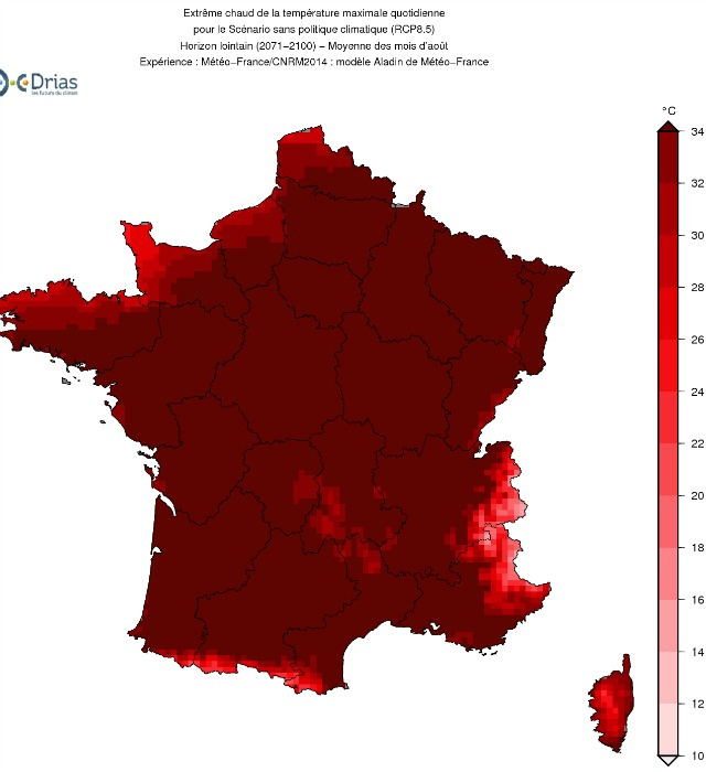 France climat 2050 carte - SOGEDO