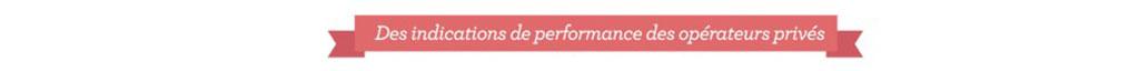 Des indications de performance des opérateurs privés
