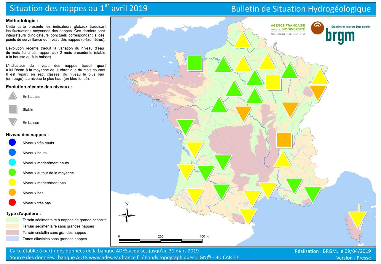 Vie pratique : sécheresse 2019 : premières alertes officielles globales