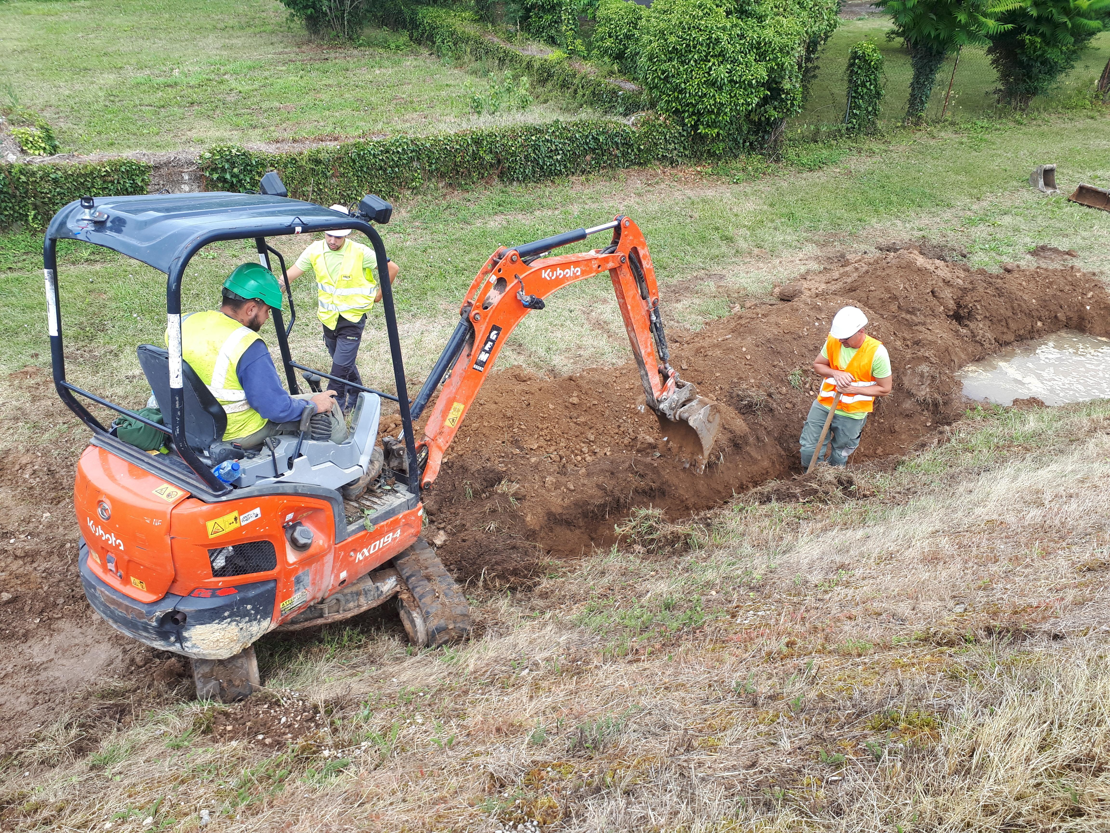 Chantérac et St Vincent de Connezac (Dordogne) : flash info 02 (09 heures 22) : travaux toujours en cours