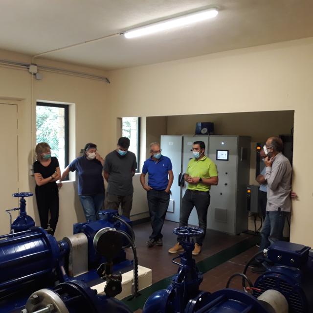 Pessac sur Dordogne : visite de la station de production et de traitement